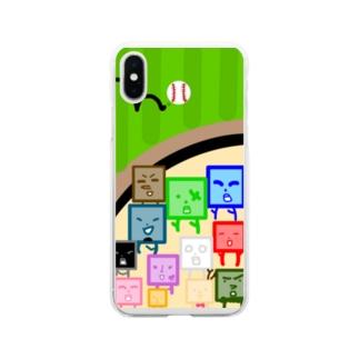 夢① Soft clear smartphone cases