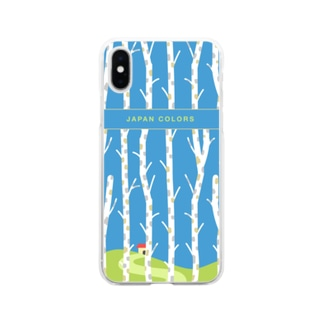 日本の背景(summer)  Soft clear smartphone cases