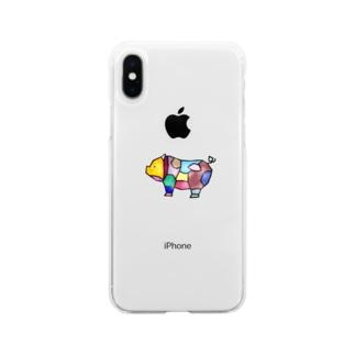 ポーク部位 Soft clear smartphone cases