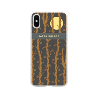 日本の背景(autumn) Soft clear smartphone cases