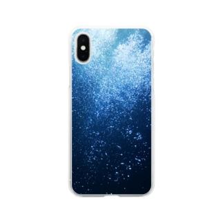 水の中 Soft clear smartphone cases