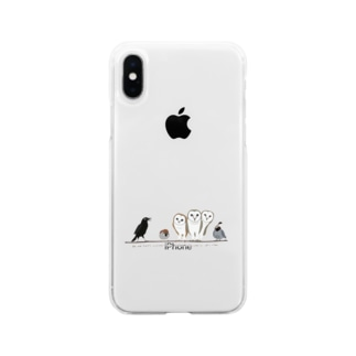 鳥たちのさえずり Soft Clear Smartphone Case