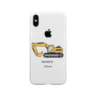ショベルカー Soft clear smartphone cases