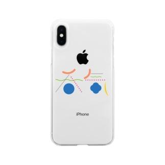 呑気 Soft clear smartphone cases