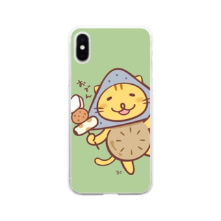 おでんネコ Soft clear smartphone cases