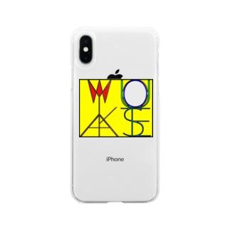 松明と鏡 色付きver Soft clear smartphone cases