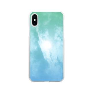 玉虫色 Soft clear smartphone cases