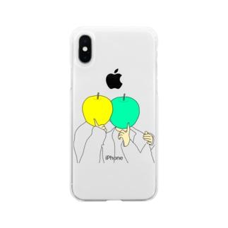 【オハヨウノヤクソク】リンゴノニジョウ Soft clear smartphone cases