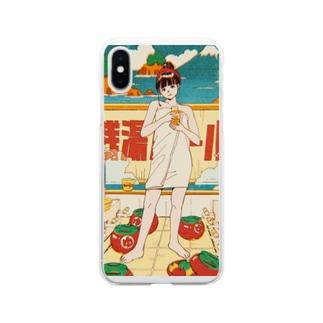 銭湯ガール スマホケース Soft clear smartphone cases