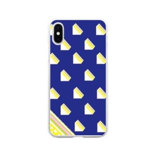 サンドイッチ 青 Soft clear smartphone cases