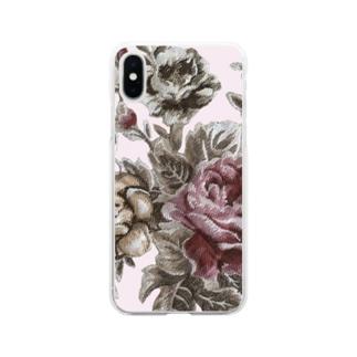 アンティークローズ♡ Soft clear smartphone cases