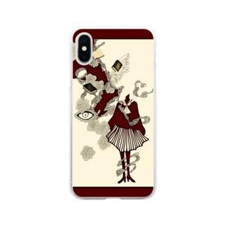 真っ赤な青春 Soft clear smartphone cases