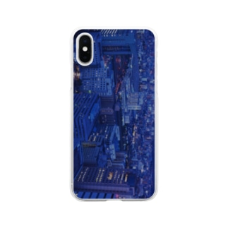 city lights Soft clear smartphone cases