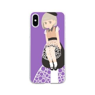 キヌガサタケちゃんiPhoneケース Soft clear smartphone cases