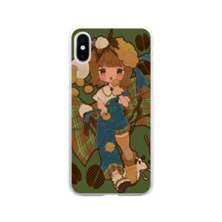 びすちゃん Soft clear smartphone cases