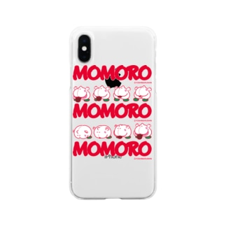 MOMOROS(WHITE) Soft clear smartphone cases