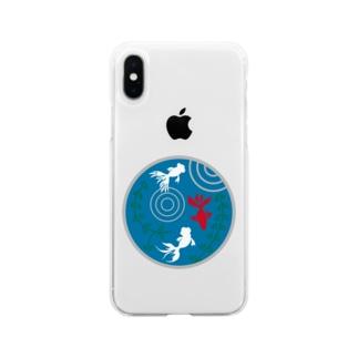 金魚・丸 Soft clear smartphone cases