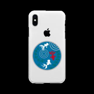 ジャパニーズスタンダードの金魚・丸 Soft clear smartphone cases