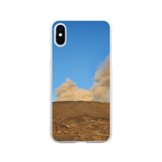 阿蘇山 Soft clear smartphone cases