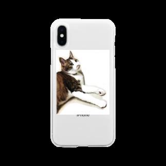 とっこのにゃあきちくん Soft clear smartphone cases
