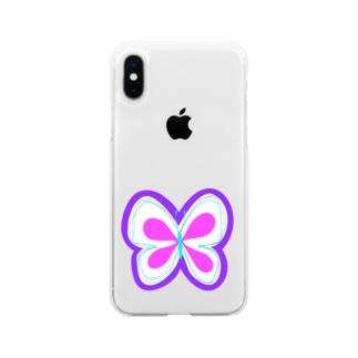 NIKORASU GOのちょうちょ Soft clear smartphone cases