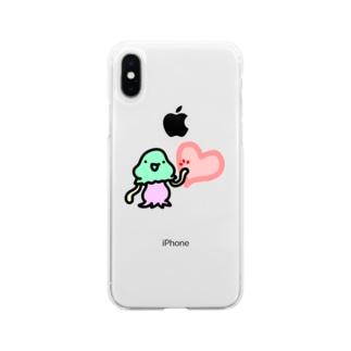 ハートタッチコペトン Soft clear smartphone cases