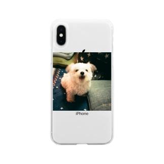 熊吉 あくび Soft clear smartphone cases