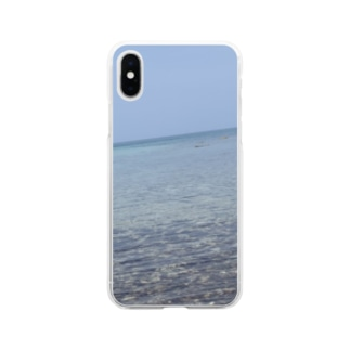 壱岐の海 Soft clear smartphone cases