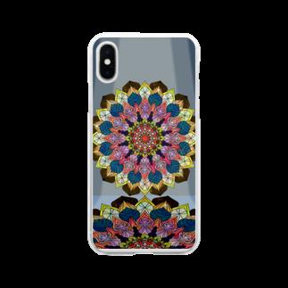 ひとつのイベリス Soft clear smartphone cases