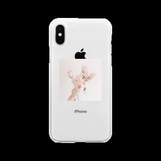 nana25373のチューリップ Soft clear smartphone cases