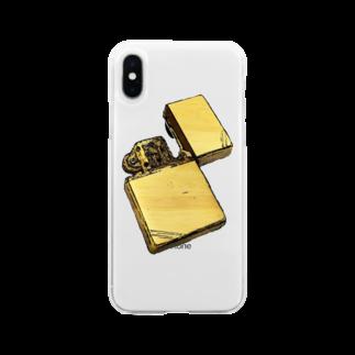 zikomanking SHOPのyour zippo Soft clear smartphone cases