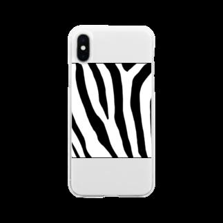 がつのシマシマの人用 Soft clear smartphone cases