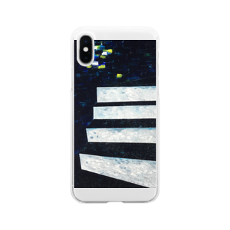 NAGISA STAIRSの階段-遠いマチアカリ- Soft clear smartphone cases