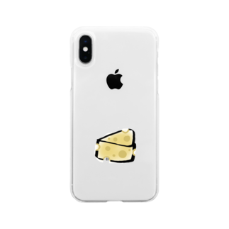 ゆるりとのcheese Soft clear smartphone cases