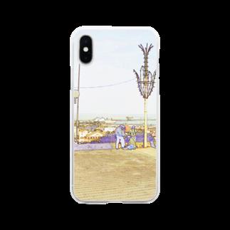 FUCHSGOLDのCG絵画:タンジェの風景画 CG art: Tanger / Tangier Soft clear smartphone cases