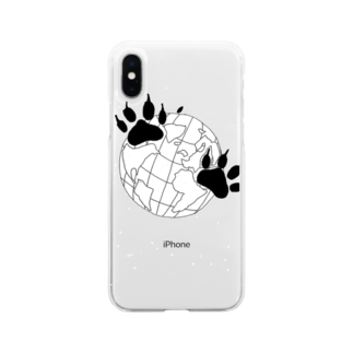 IRASTAのWORLDグラフィック Soft clear smartphone cases