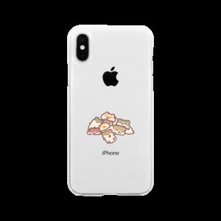 すやはむハウスのはむちゃんの塊 Soft clear smartphone cases