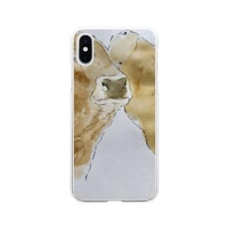スタッフの描く牛たち Soft Clear Smartphone Case