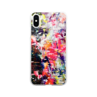 art 抽象画 Soft clear smartphone cases