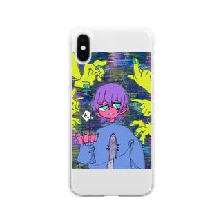 目が痛いスマホケース Soft clear smartphone cases