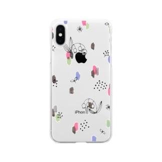 水彩&線画すずらん【シンプル】 Soft clear smartphone cases