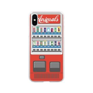 レトロアニマル自販機 Soft clear smartphone cases