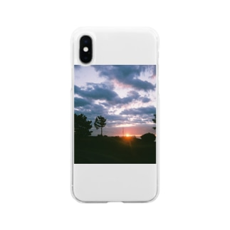 日の出 Soft clear smartphone cases