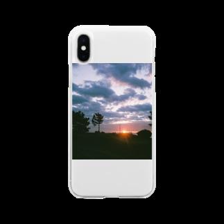 遠藤商店の日の出 Soft clear smartphone cases