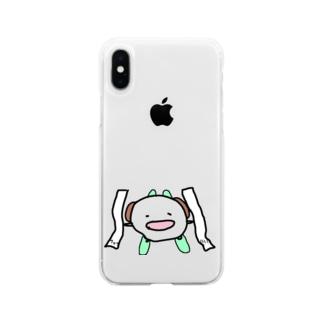 ぞろ目のレシートに嬉しくなってゲレンデを滑るいぬです Soft clear smartphone cases