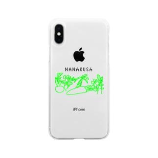 七草 Soft clear smartphone cases