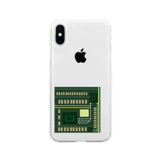 理系 基盤丸見え Soft clear smartphone cases