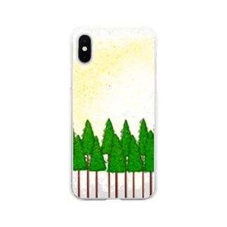 花粉症です。 Soft clear smartphone cases