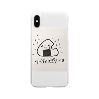 つらおにぎり Soft clear smartphone cases