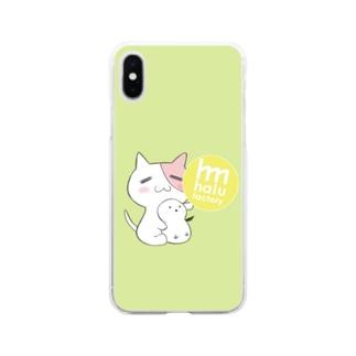 ともにゃんシマエナガスマホケース Soft clear smartphone cases